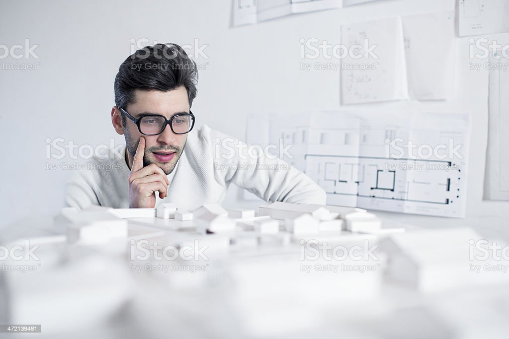 Concentrating on a project stock photo