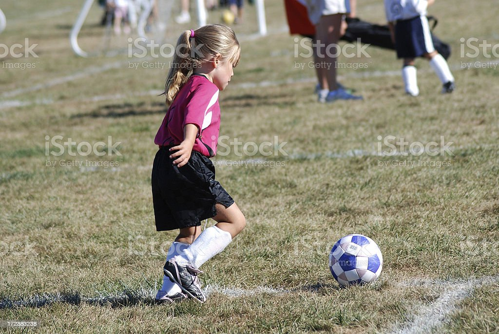 Concentrating on the Ball royalty-free stock photo