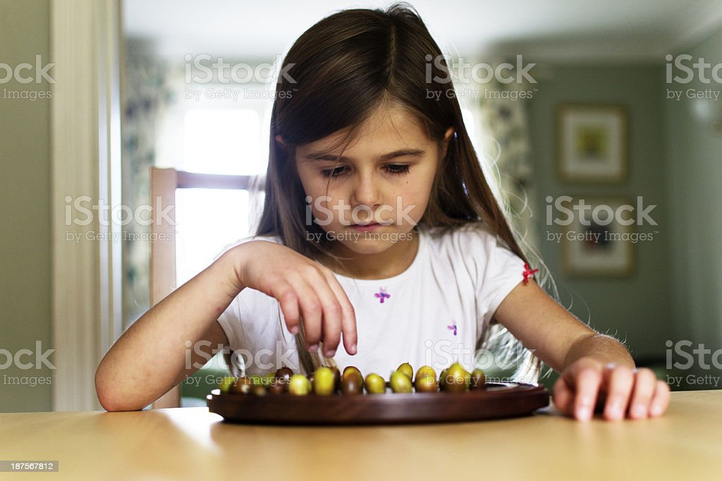 Concentrating on the game royalty-free stock photo