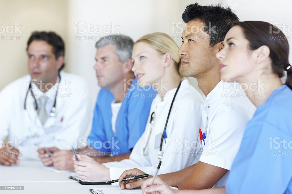 Concentrating on the presentation royalty-free stock photo