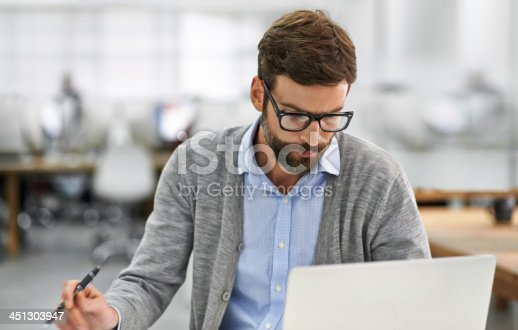 istock Concentration and Dedication get's the job done 451303947