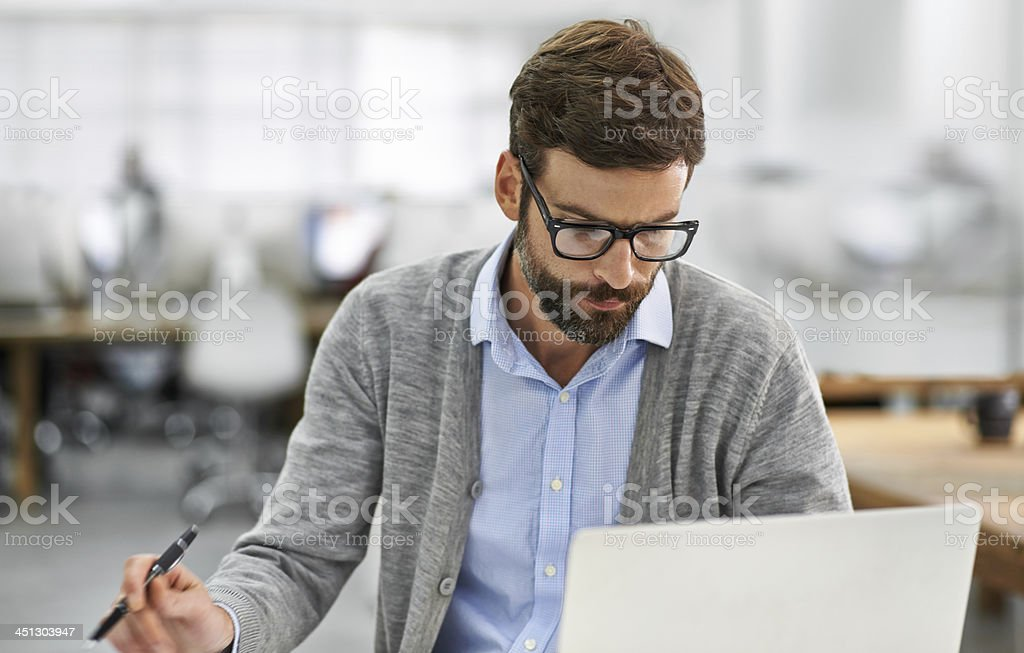 Concentration and Dedication get's the job done stock photo