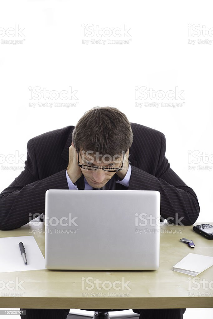 Concentration Business man royalty-free stock photo