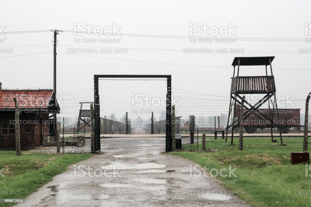 Concentration camp Birkenau stock photo