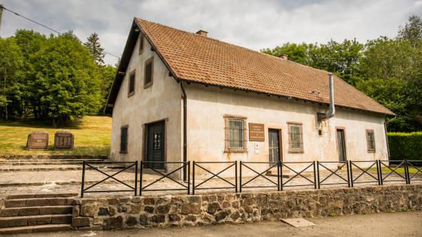 concentration camp natzweiler struthof: the gas chamber - andreas haas stock-fotos und bilder