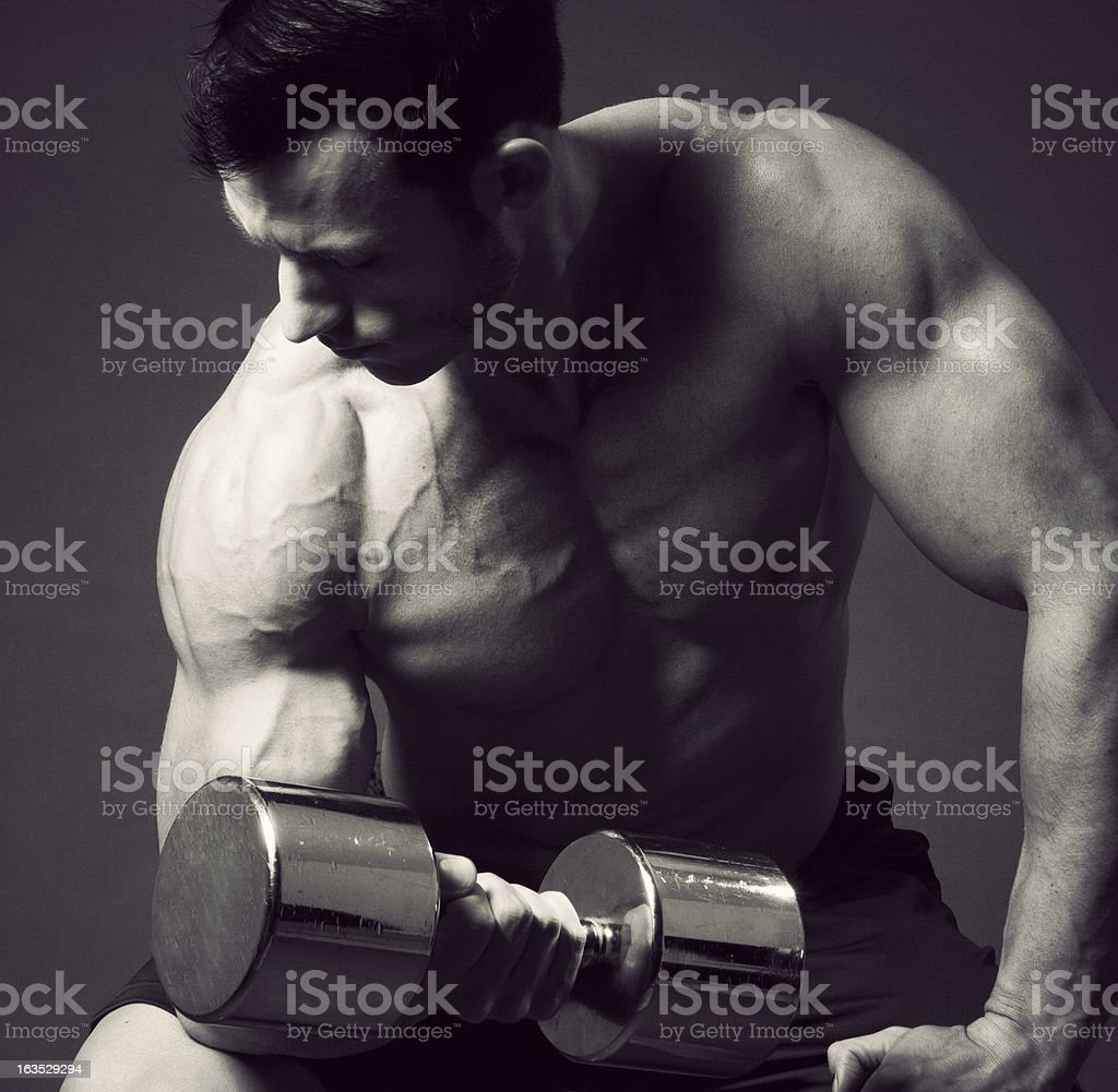 Concentration Curl royalty-free stock photo