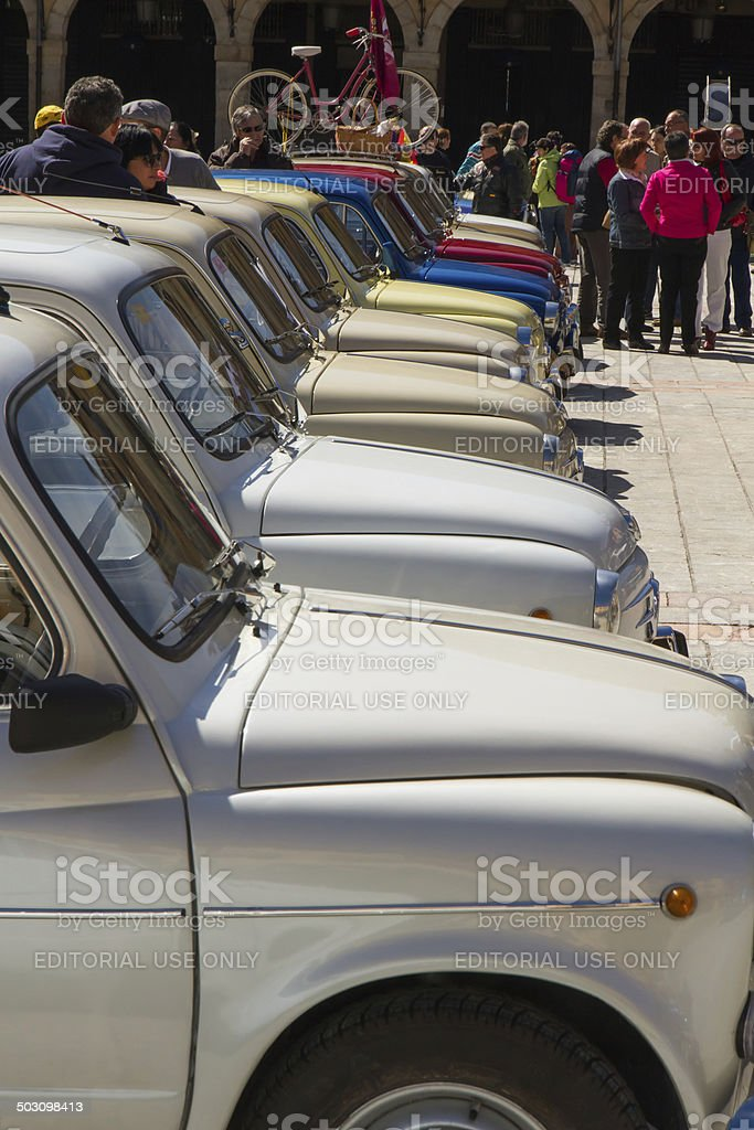 Concentration of classic cars stock photo