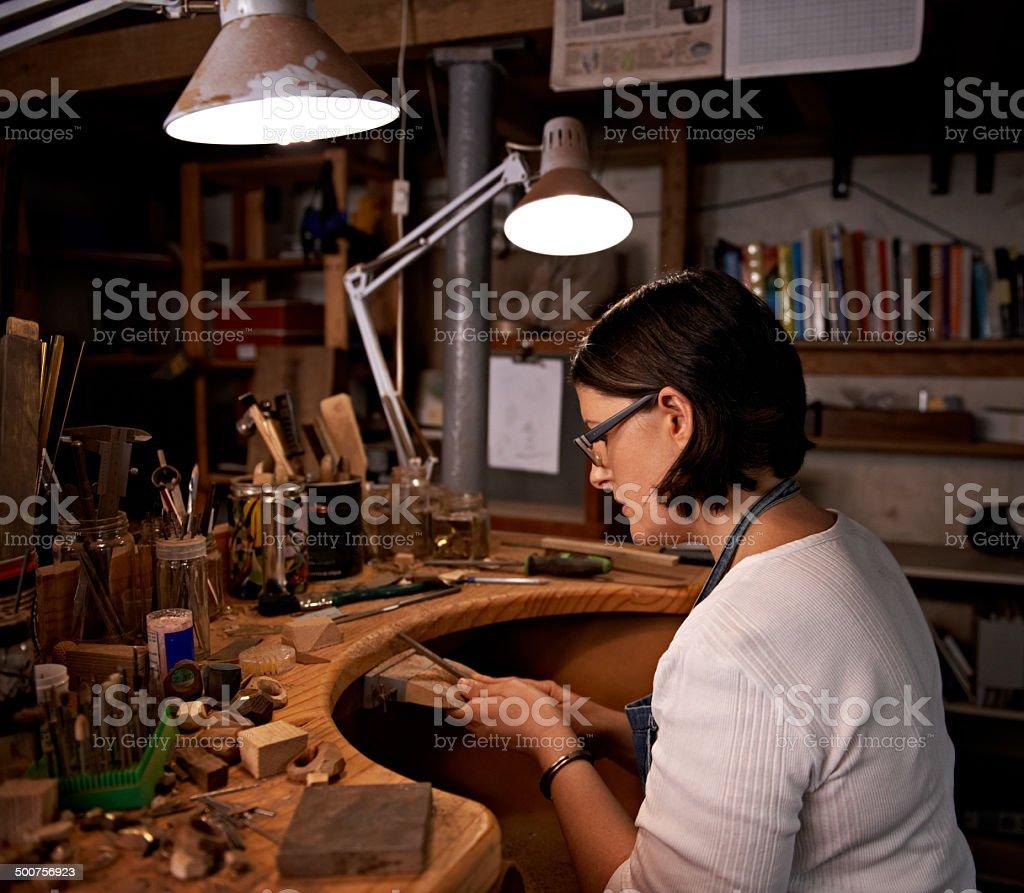 Konzentration auf Ihr Handwerk Lizenzfreies stock-foto