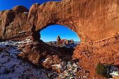 Park Avenue Landscape at Arches National Park, Utah