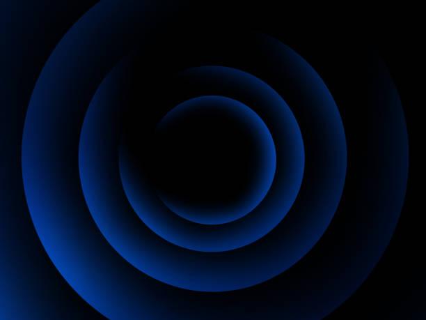 contexte concentrique des éléments du cercle bleu. modèle de cercle abstrait - cercle concentrique photos et images de collection