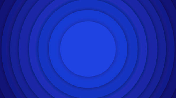 Concentric Circles Background - Blue stock photo