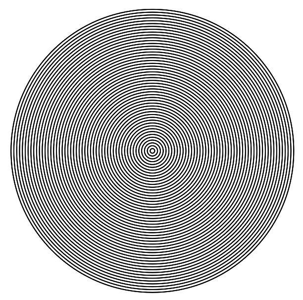 cercles concentriques du centre de la texture - cercle concentrique photos et images de collection