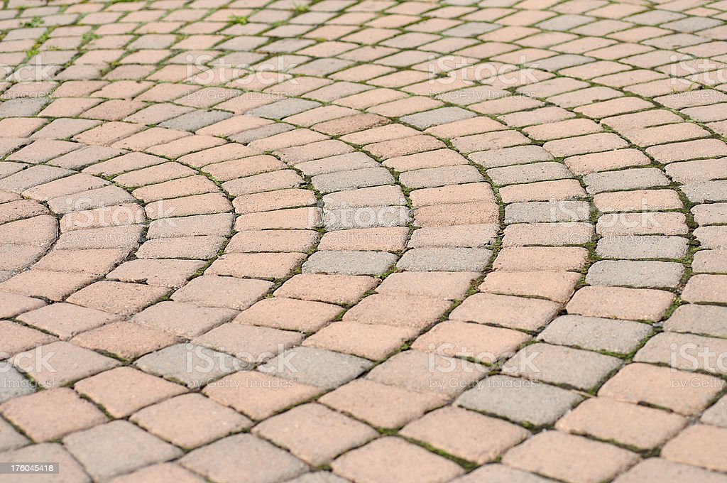 Concentric Pavers royalty-free stock photo