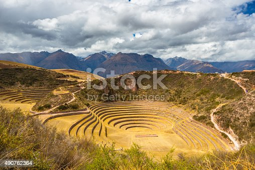 istock Concentric terraces in Moray, Sacred Valley, Peru 490762364