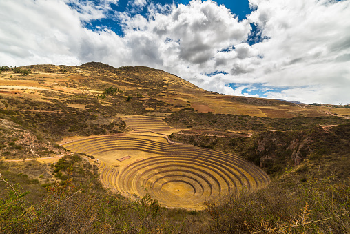 istock Concentric terraces in Moray, Sacred Valley, Peru 493086594