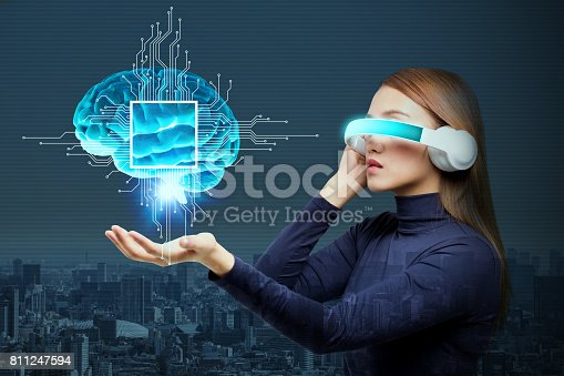 istock AI(Artificial Intelligence) concept, 3D rendering, abstract image visual 811247594
