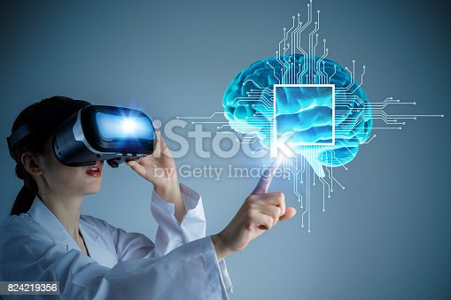 istock AI(Artificial Intelligence) concept, 3D rendering, abstract image visual 824219356