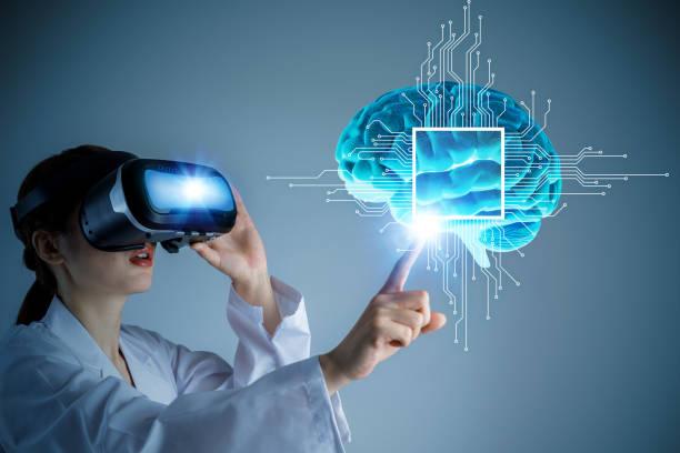 ai(artificial intelligence) concept, 3d rendering, abstract image visual - medical technology стоковые фото и изображения