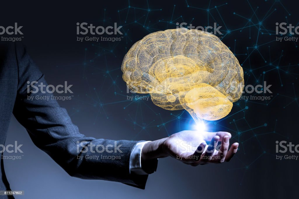 AI(Artificial Intelligence) concept, 3d rendering stock photo