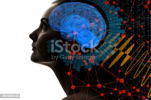 istock AI(Artificial Intelligence) concept. 3D rendering. 851956150