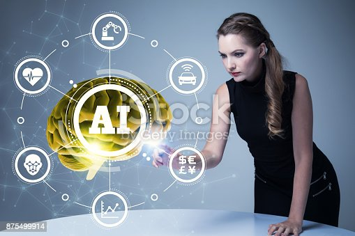 istock AI(Artificial Intelligence) concept. 3D rendering. 875499914