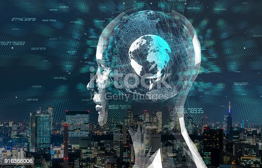 istock AI(Artificial Intelligence) concept. 3D rendering. 916366006