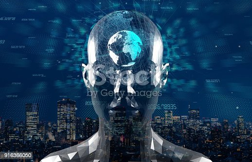 istock AI(Artificial Intelligence) concept. 3D rendering. 916366050