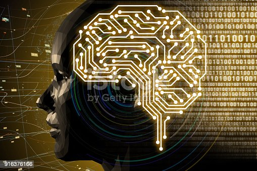 istock AI(Artificial Intelligence) concept. 3D rendering. 916376166
