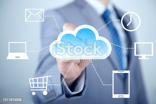 istock Concept about cloud computing 1011810306