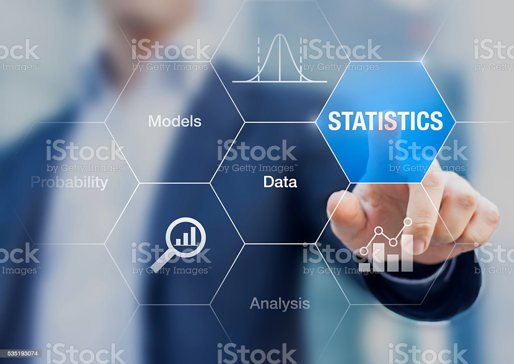 Concept about statistics, data, models and analysis stock photo