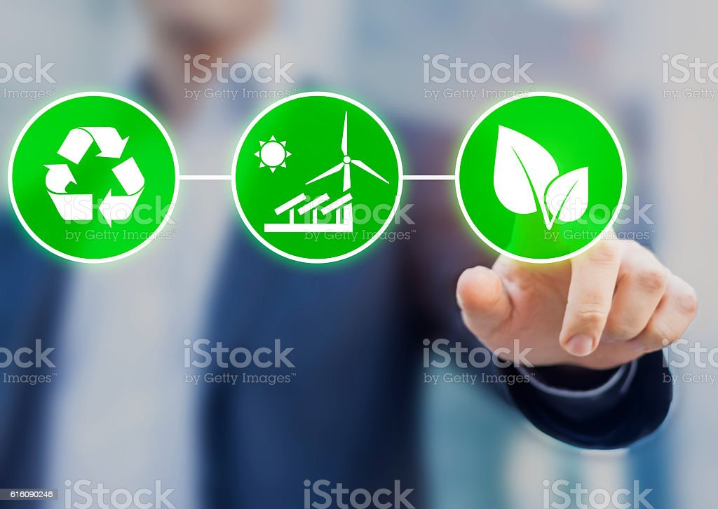 Concept about sustainable development, ecology and environment protection stock photo