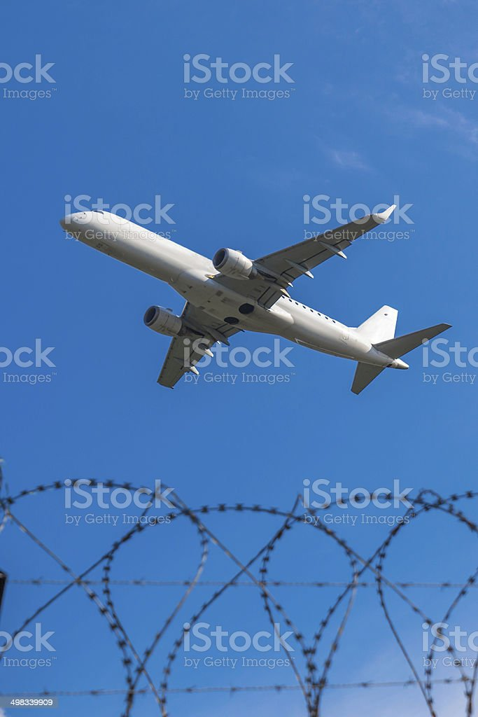 Concept: Air Travel Security stock photo