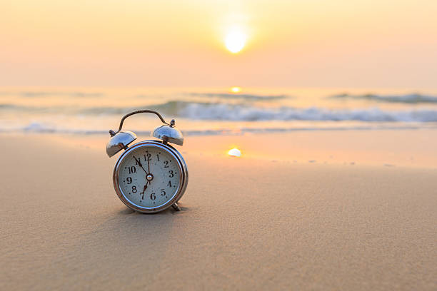 Concept alarm clock stock photo
