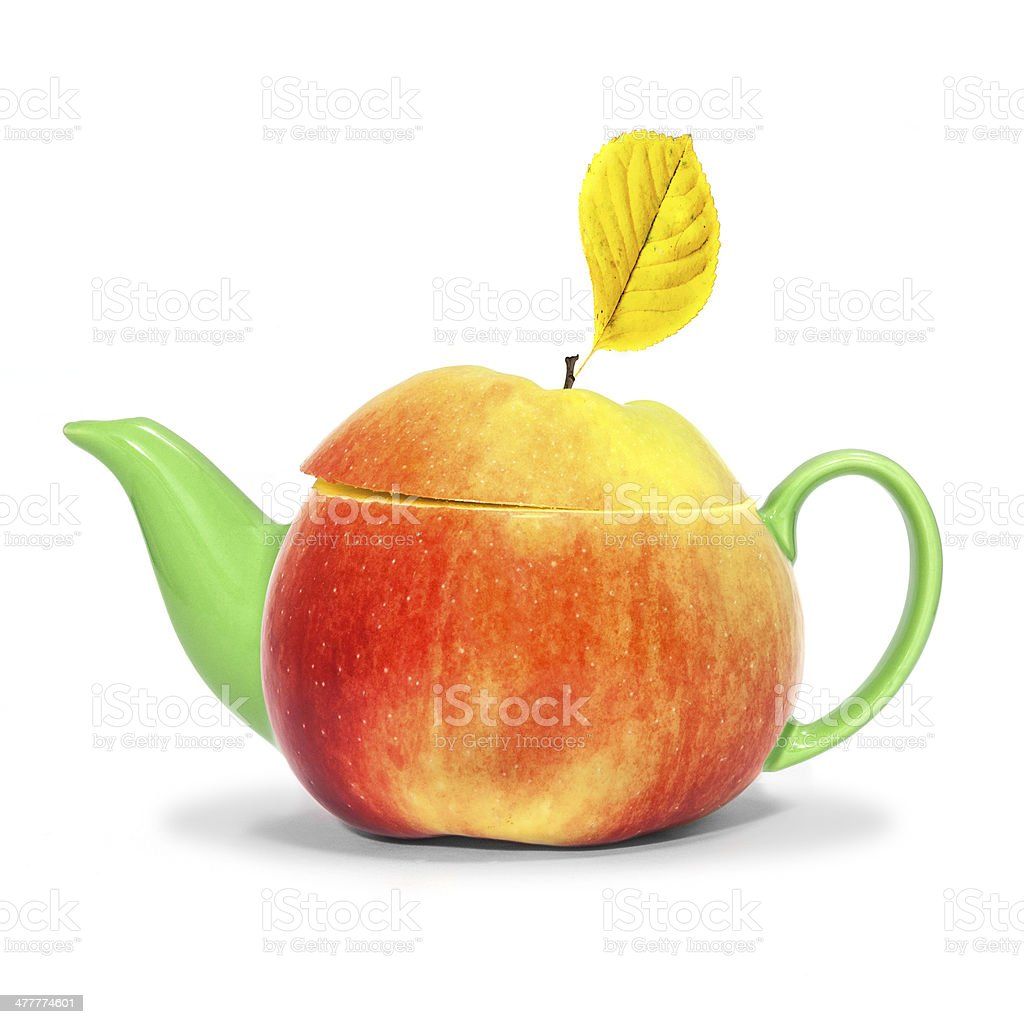 Concept apple teapot royalty-free stock photo