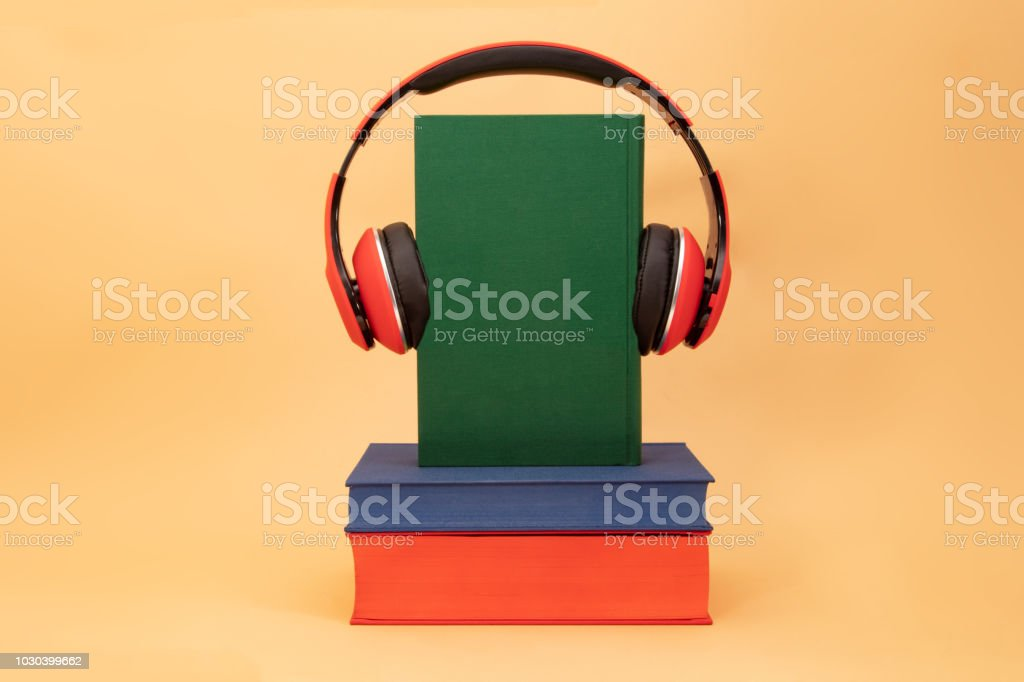 Concept Audiobooks stock photo
