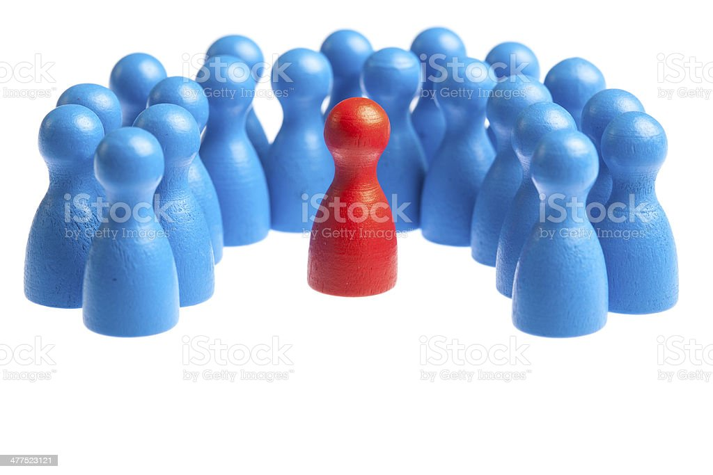 Concept being different among masses stock photo