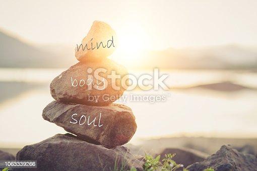 istock Concept body, mind, soul, spirit 1063339266