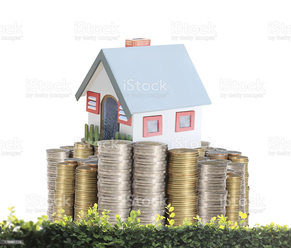 concept by money house from coins royalty-free stock photo