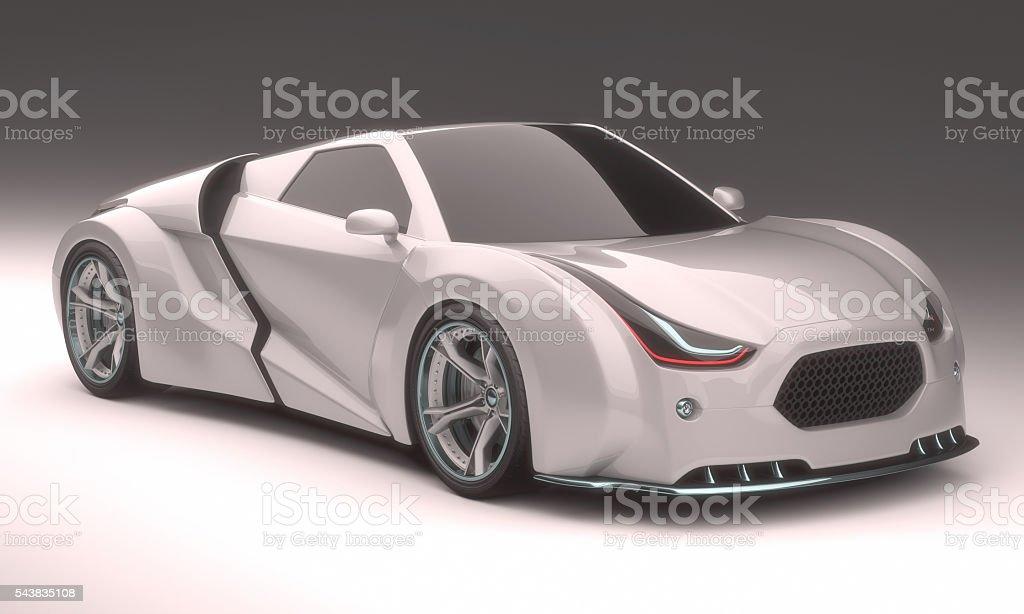 3D Concept Car stock photo