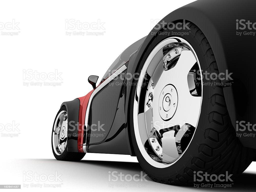concept car sport coupe close up stock photo