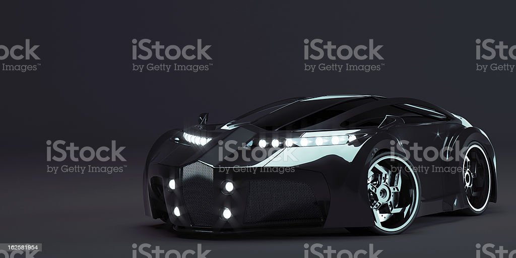 concept car, sportscar stuiorendering stock photo