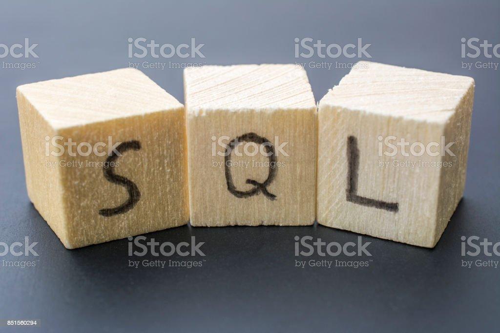 SQL concept close-up stock photo