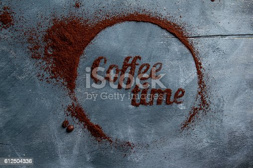 istock Concept coffee composition 612504336