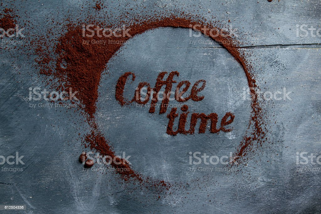 Concept coffee composition stock photo