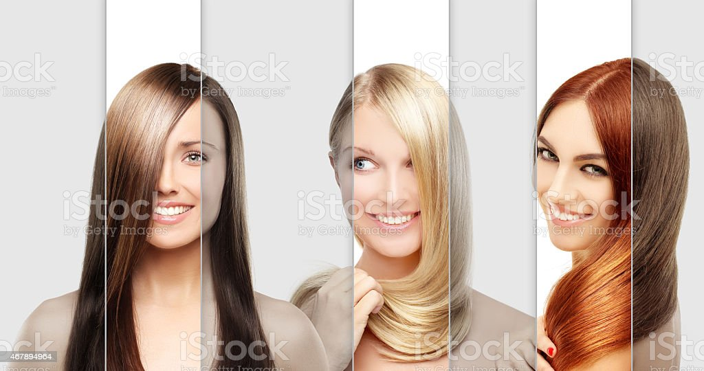Concept Coloring Hair stock photo