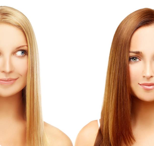 Concept Coloring Hair. stock photo