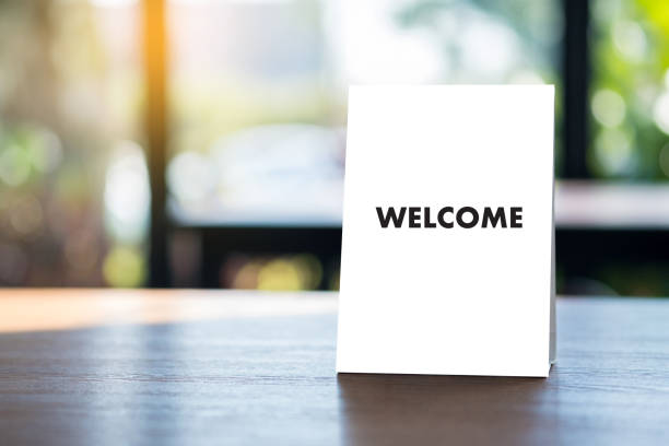 WELCOME Concept Communication Business open welcome to the team Teamwork WELCOME Concept Communication Business open welcome to the team Teamwork aboard stock pictures, royalty-free photos & images