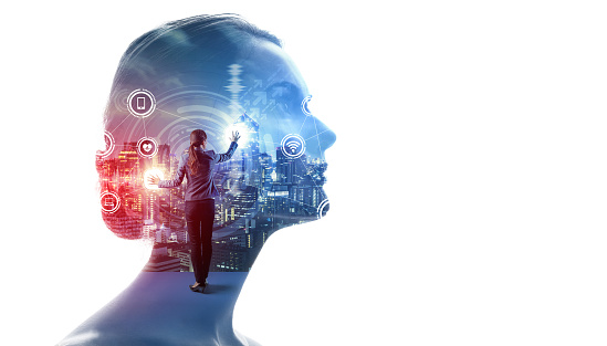 1054574034 istock photo AI (Artificial Intelligence) concept. Communication network. 1159996512