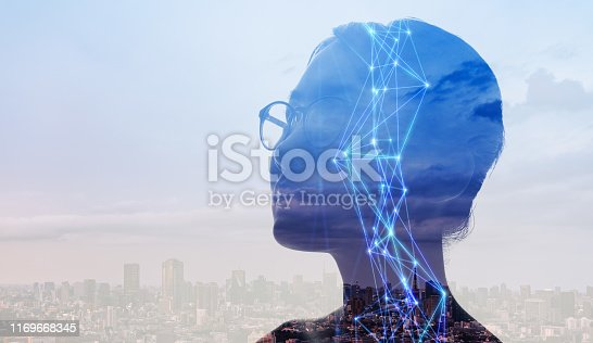 1054574034istockphoto AI (Artificial Intelligence) concept. Communication network. 1169668345
