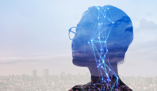 1054574034 istock photo AI (Artificial Intelligence) concept. Communication network. 1169668345